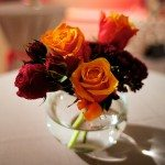 Autumnal-50th-Birthday-Party6-Mini-Vases-Autumnal-Flowers