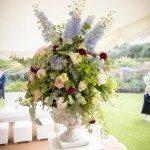 Pedestal of English Flowers
