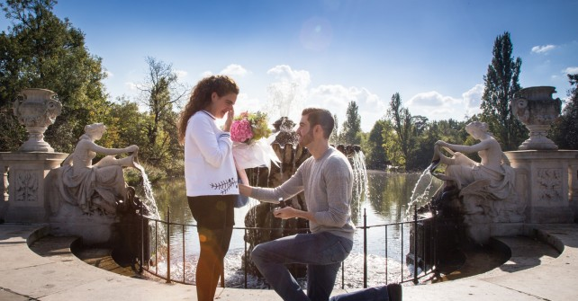 Hussein's romantic treasure hunt proposal across London
