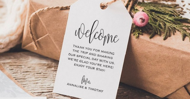 How to make your out of town guests feel special | Personalised Wedding Welcome Pack's
