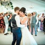 The first dance in a marquee