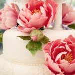 claire-richard-24-Wedding cake with lace and pink flowers