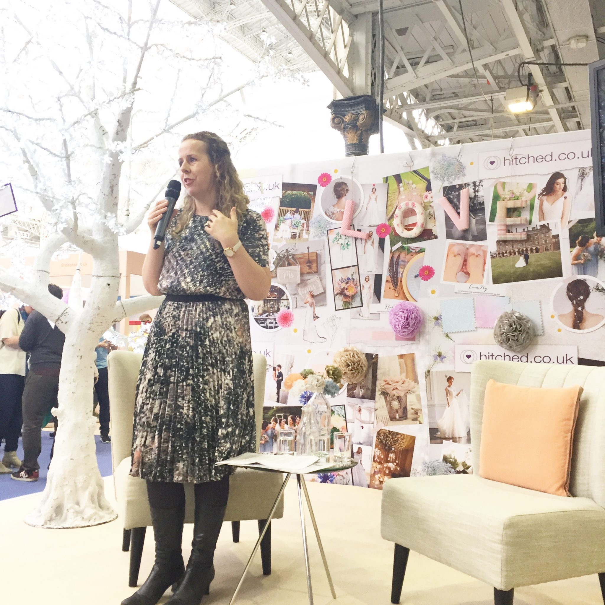 Bernadette presented at the national wedding show