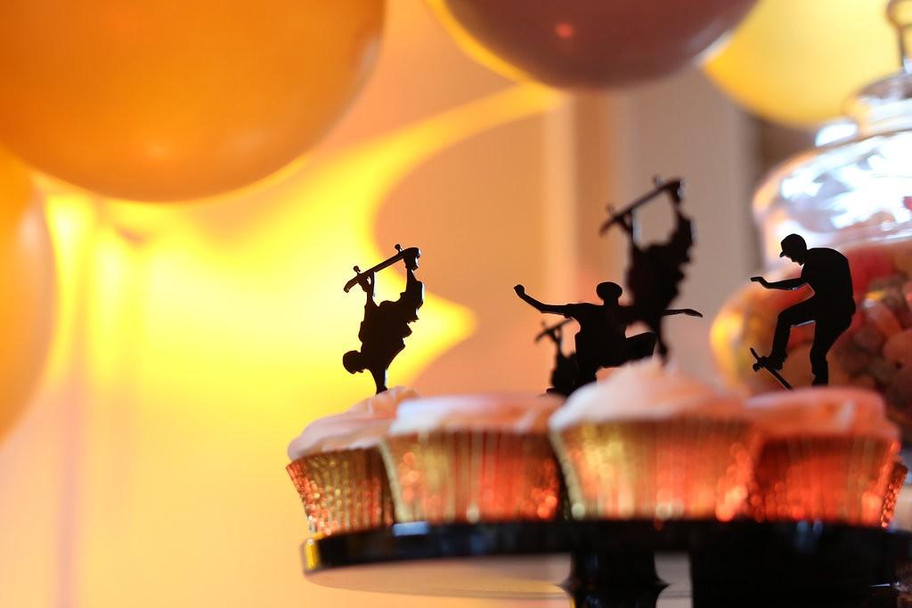 Skateboard Cupcake Toppers