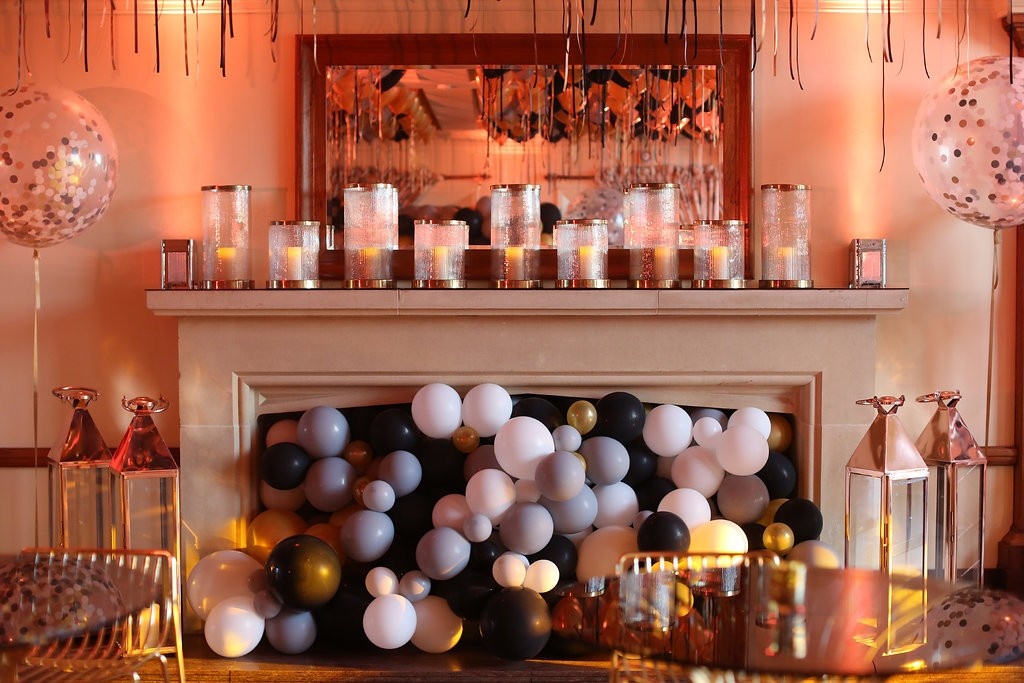 Designer Balloons FIreplace