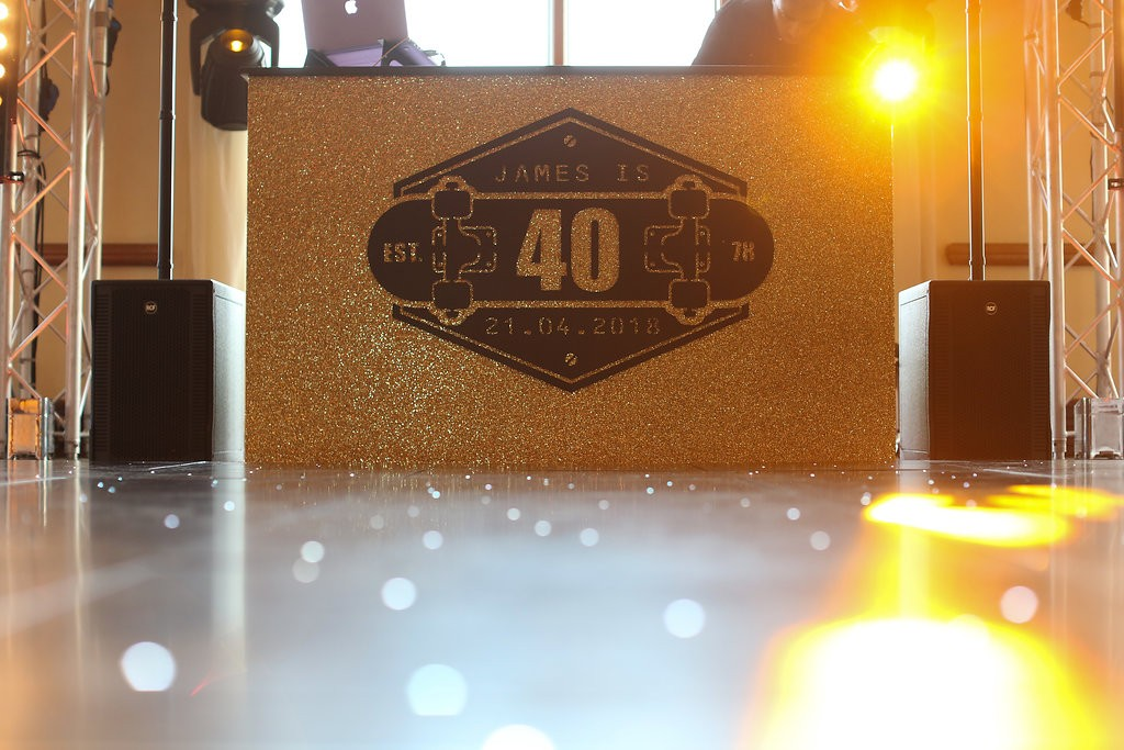 Gold Branded DJ Booth
